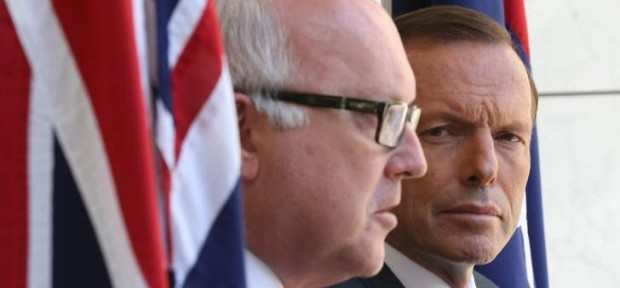 Tony Abbott and George Brandis