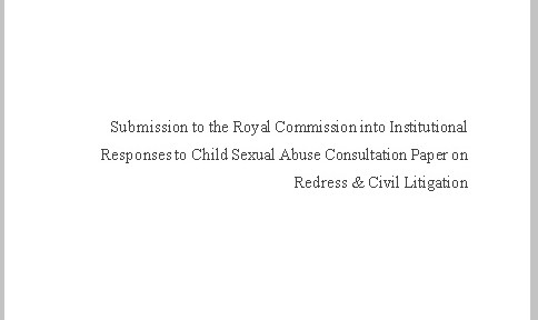 redress submissions title page