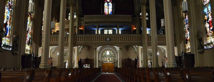 Interior of a old church in Melbourne