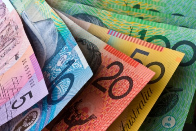 Close up of Australian currency